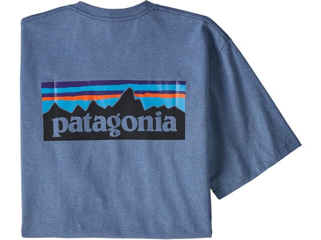Patagonia P-6 Logo Camiseta responsable Hombre, woolly blue